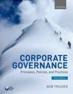 CORPORATE GOVERNANCE: PRINCIPLES, POLICIES, AND PRACTICES - Charles Darwin University Bookshop