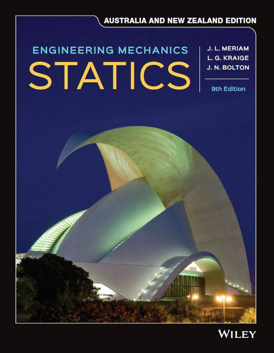 ENGINEERING MECHANICS: STATICS, 9TH AUSTRALIA AND NEW ZEALAND EDITION PRINT & WILEYPLUS CARD SET