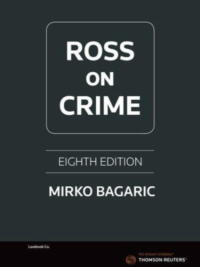 ROSS ON CRIME 8TH EDITION