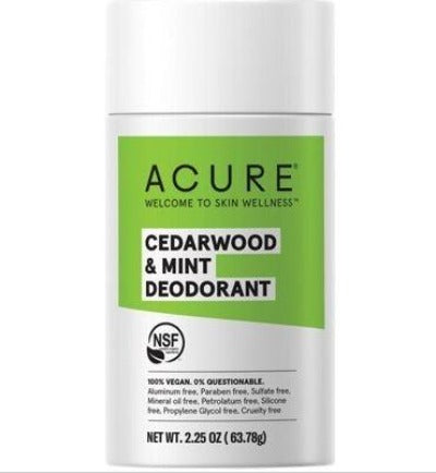 Acure Deoderant stick Cedarwood and Mint