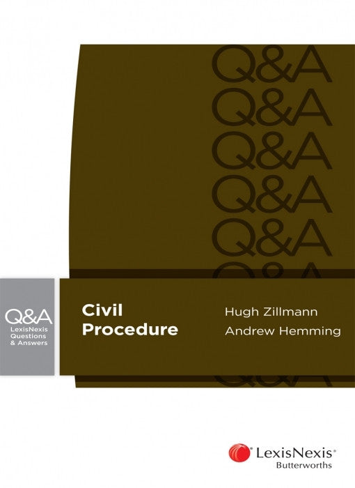 LEXISNEXIS QUESTIONS AND ANSWERS - CIVIL PROCEDURE - Charles Darwin University Bookshop