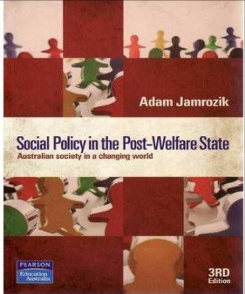 SOCIAL POLICY IN THE POST WELFARE STATE - Charles Darwin University Bookshop
