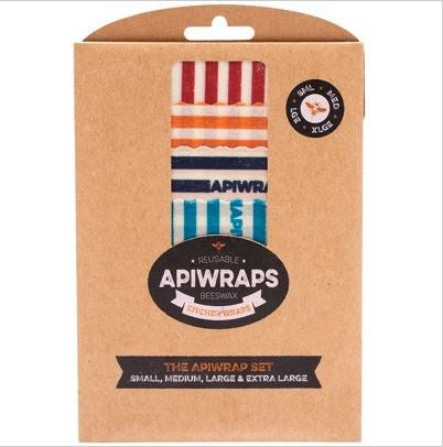 APIWRAPS Reusable Beeswax Wraps - Full Set 1 X S, M, L & XL Designs Vary 4