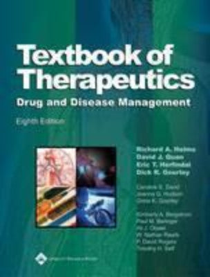 TEXTBOOK OF THERAPEUTICS: DRUG AND DISEASE MANAGEMENT - Charles Darwin University Bookshop