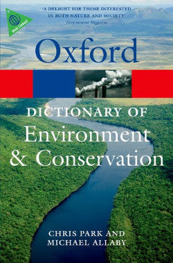 A DICTIONARY OF ENVIRONMENT AND CONSERVATION - Charles Darwin University Bookshop