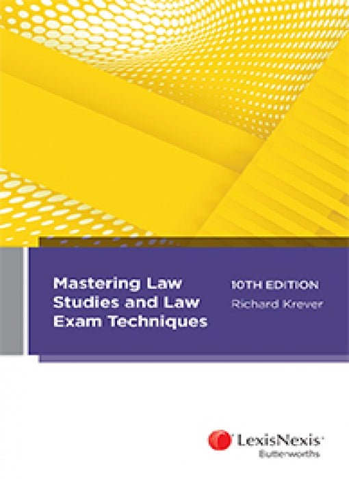 MASTERING LAW STUDY AND LAW EXAM TECHNIQUES 10TH EDITION