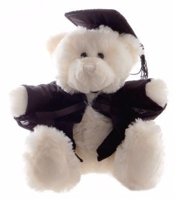 GRADUATION BEAR CREAM 40CM FRANKIE - Charles Darwin University Bookshop