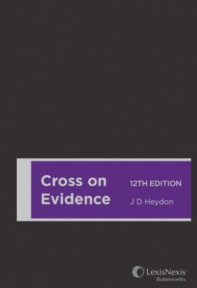 CROSS ON EVIDENCE 12TH EDITION