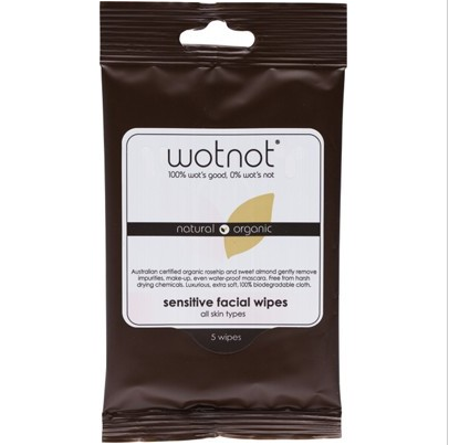 Wotnot Facial Wipes Sensitive 5 pack