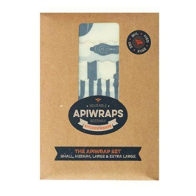 APIWRAPS Reusable Beeswax Kitchen Wrap Cheese Lovers Pack x3