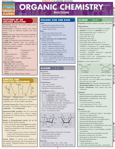 ORGANIC CHEMISTRY REACTIONS - Charles Darwin University Bookshop