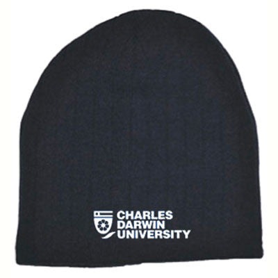 CDU CABLE KNIT BEANIE - NAVY - Charles Darwin University Bookshop