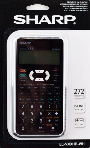 SHARP EL-531XHB-WH SCIENTIFIC CALCULATOR - Charles Darwin University Bookshop