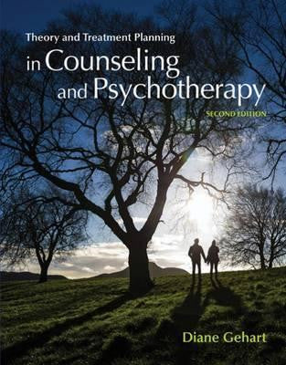 THEORY AND TREATMENT PLANNING IN COUNSELING AND PSYCHOTHERAPY - Charles Darwin University Bookshop