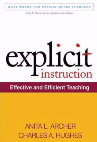 EXPLICIT INSTRUCTION EFFECTIVE & EFFICIENT TEACHING - Charles Darwin University Bookshop