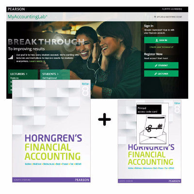 HORNGREN'S FINANCIAL ACCOUNTING + MYACCOUNTINGLAB WITH ETEXT VALUE PACK - Charles Darwin University Bookshop