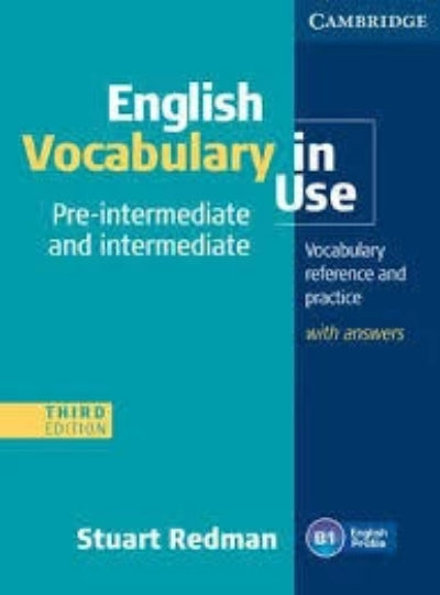 ENGLISH VOCABULARY IN USE PRE-INTERMEDIATE AND INTERMEDIATE WITH ANSWERS AND CD-ROM - Charles Darwin University Bookshop