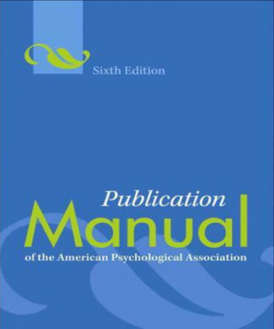 PUBLICATION MANUAL OF THE AMERICAN PSYCHOLOGICAL ASSOCIATION - Charles Darwin University Bookshop