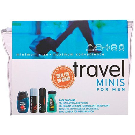 TRAVEL SET MINIS FOR MEN - Charles Darwin University Bookshop