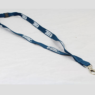 LANYARD BLUE WITH WHITE CDU PRINT - Charles Darwin University Bookshop