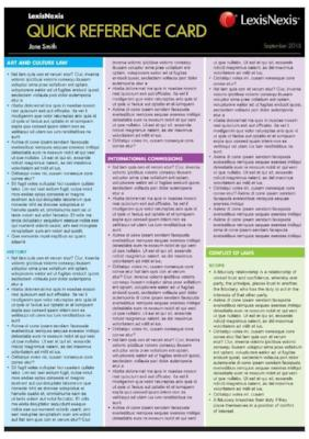 LEGAL REFERENCING QUICK REFERENCE CARD