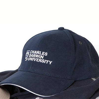 CDU CAP NAVY/WHITE TRIM - Charles Darwin University Bookshop