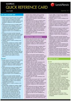 UNIFORM EVIDENCE LAW QUICK REFERENCE CARD