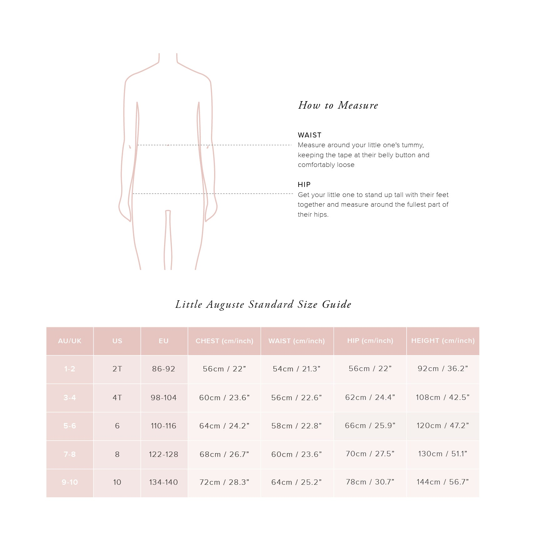 Little Auguste Size Guide - Little Bottoms