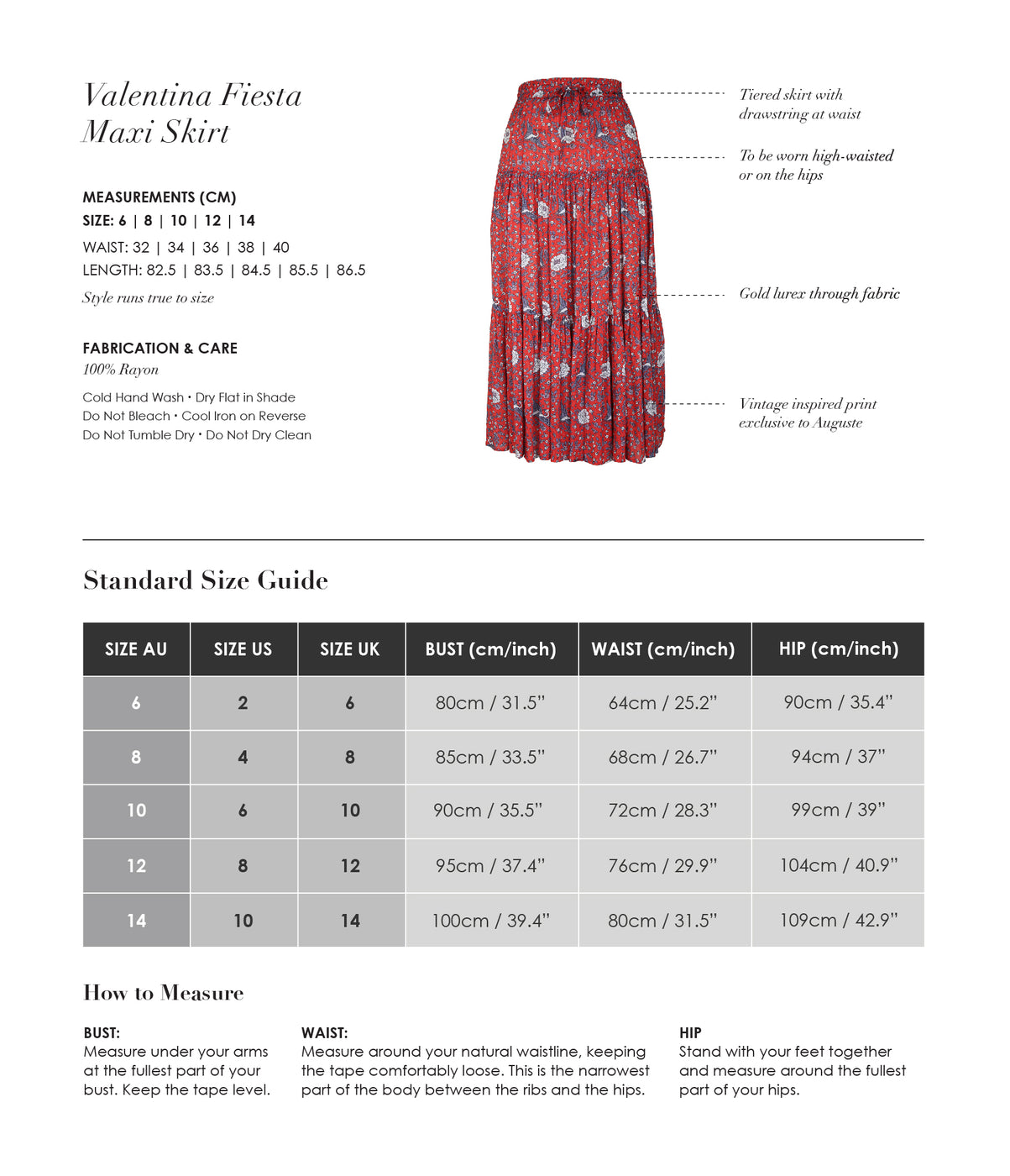 valentina maxi skirt auguste the label