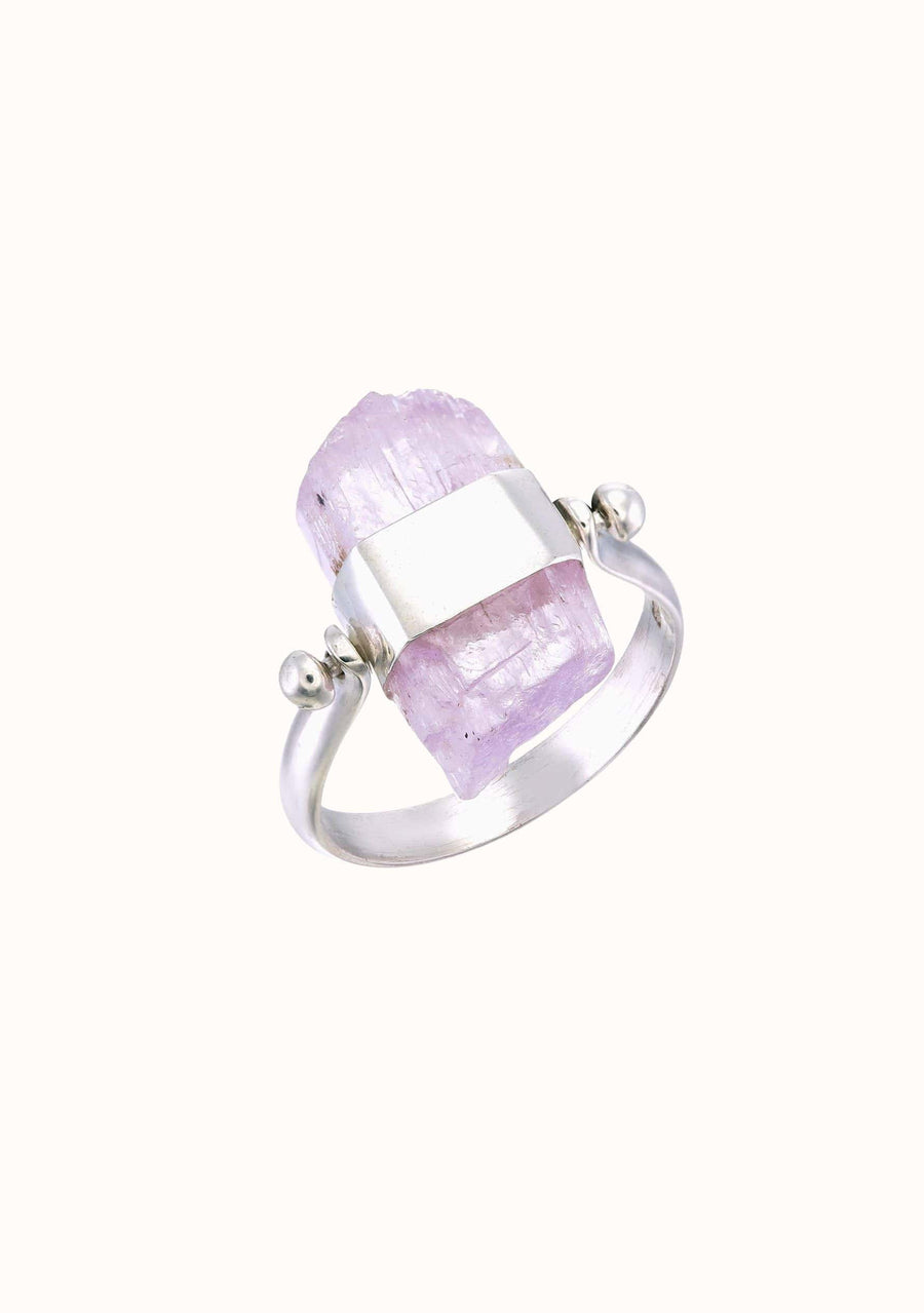 TIGER FRAME Kunzite Swivel Ring Silver