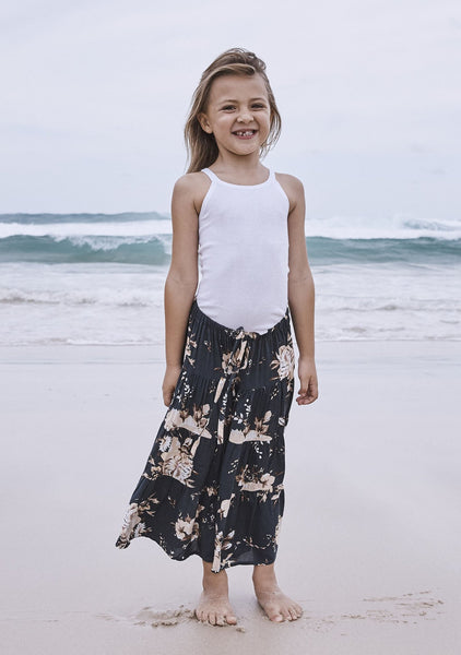 Little Miss Maxi Skirt Vintage Bloom Charcoal