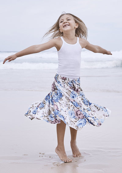 Little Miss Maxi Skirt Texan Bloom Natural - Auguste The Label