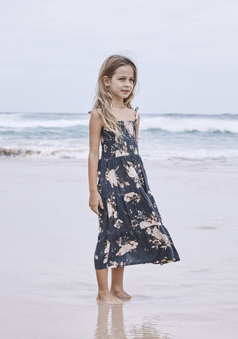 Little Miss Princess Maxi Dress Vintage Bloom Charcoal