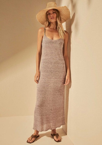 Mason Linen Midi Dress Lilac - Auguste The Label