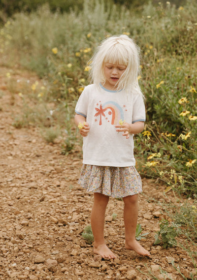 Rainbow Palms Tee White - Little Auguste