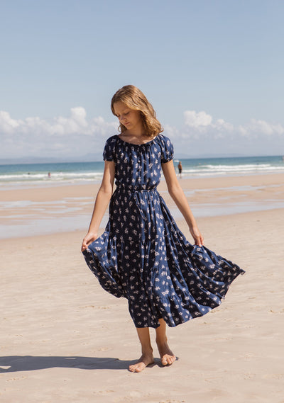 Grace Maxi Dress Navy Jasmine - Auguste Girl - Auguste The Label