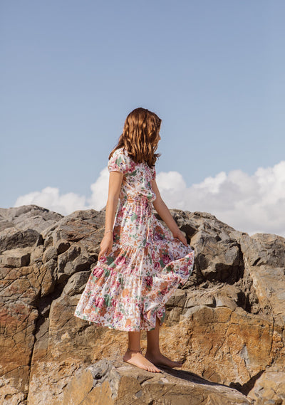 Grace Maxi Dress Longbeach Floral Natural - Auguste Girl - Auguste The Label