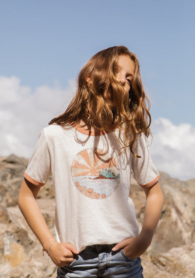 Sun Rays Ringer Tee - Auguste Girl - Auguste The Label
