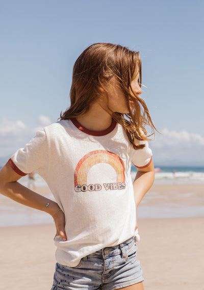 Little Auguste Good Vibes Tee - Little Auguste - Auguste The Label