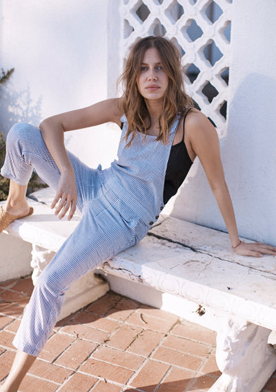 Lucy Overalls Stripe - Auguste The Label