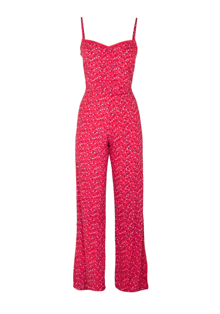 Daphne Pintuck Jumpsuit Red