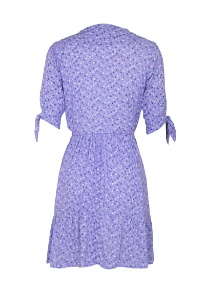 Daphne Crop Sleeve Wrap Mini Dress Lavender - Auguste The Label