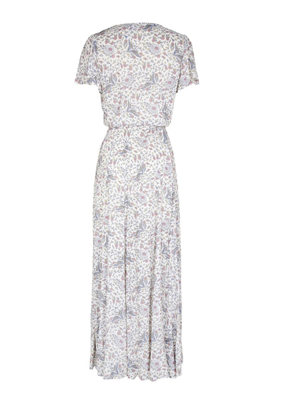 Valentina Fiesta Wrap Maxi Dress Off White - Auguste The Label