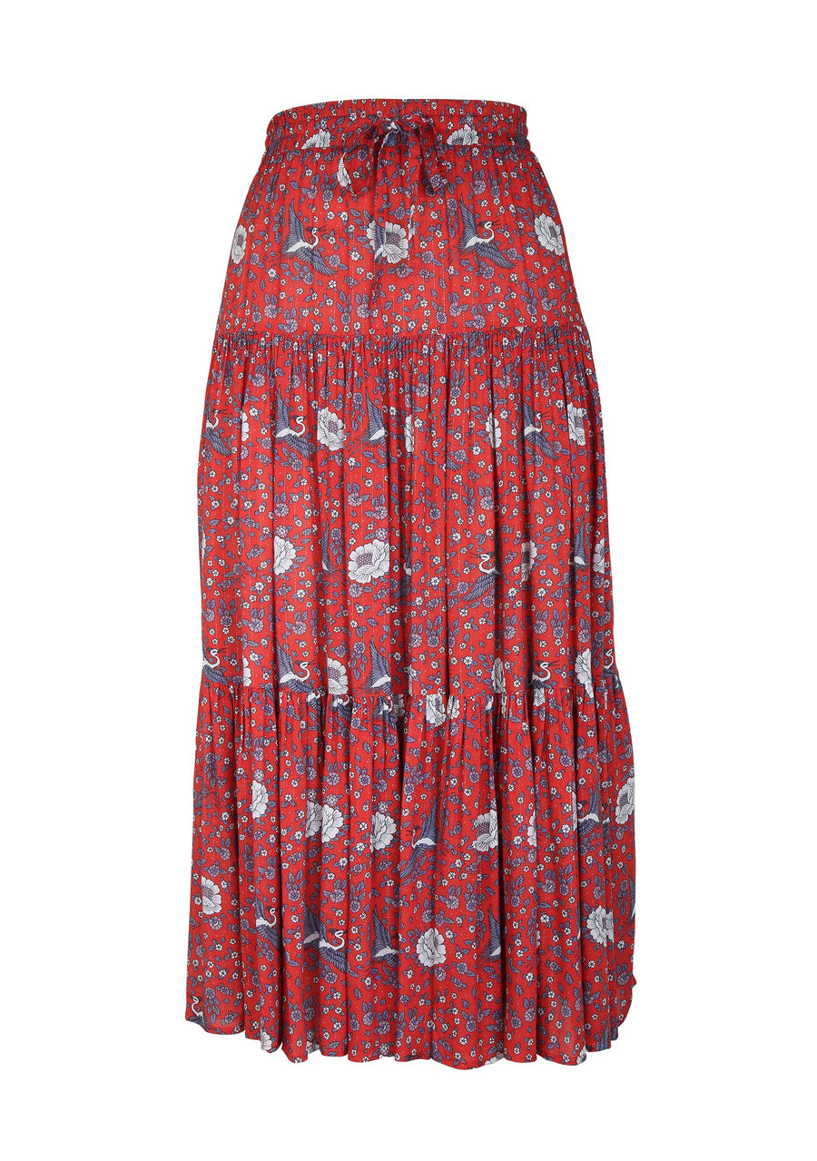 Valentina Fiesta Maxi Skirt Red