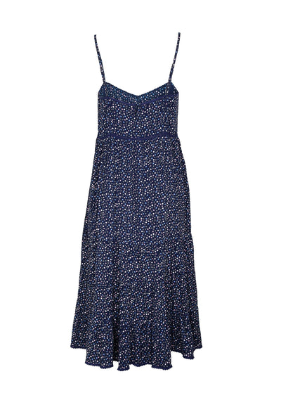 Daphne Easy Days Midi Dress Navy - Auguste The Label