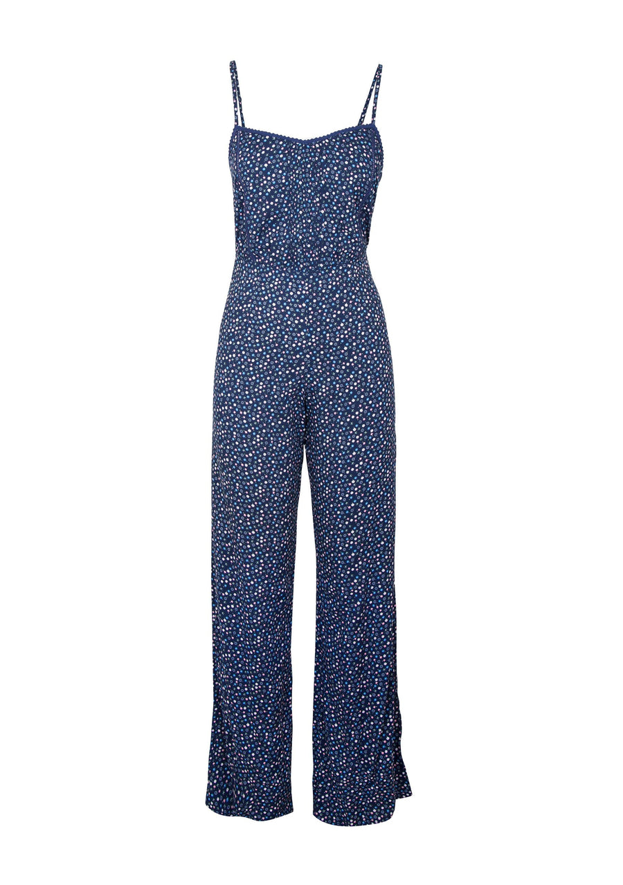 Daphne Pintuck Jumpsuit Navy - Auguste The Label
