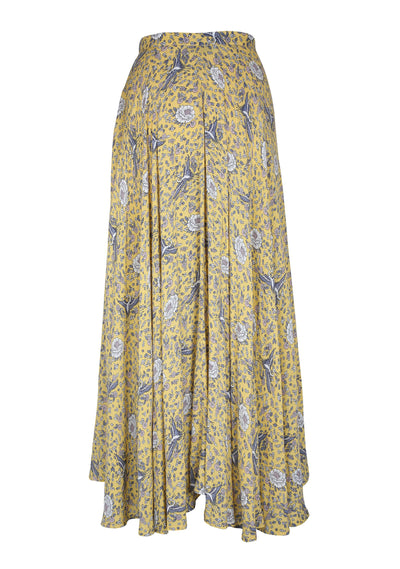 Valentina Wrap Skirt Yellow - Auguste The Label