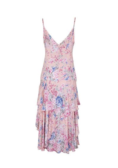 Dahlia Cascade Dress Blush - Auguste The Label