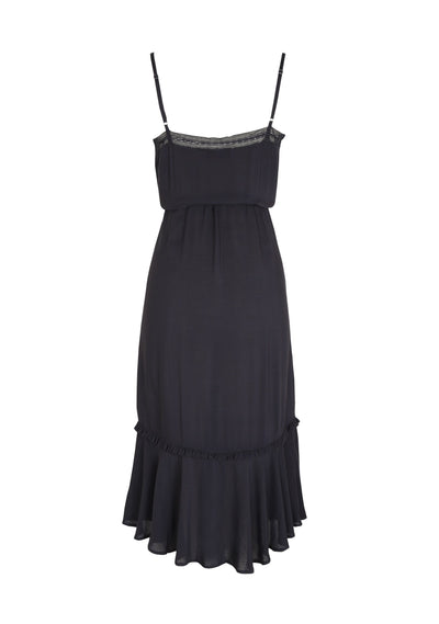 Edwina Lace Day Dress Black - Auguste The Label