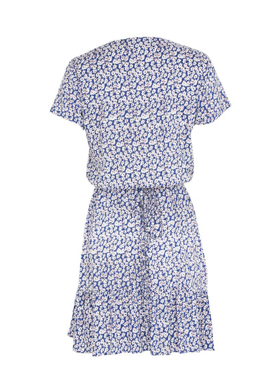 Daisy Love Wrap Mini Dress Blue - Auguste The Label